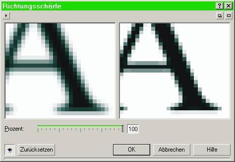 schärfe einstellen windows 10